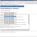 Benachrichtigungen bearbeiten: verfügbare Textschablonen