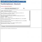 Benachrichtigungen bearbeiten: Textschablone bearbeiten
