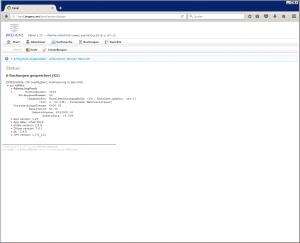Willkommen, Anwendungs-Status, Build-Info